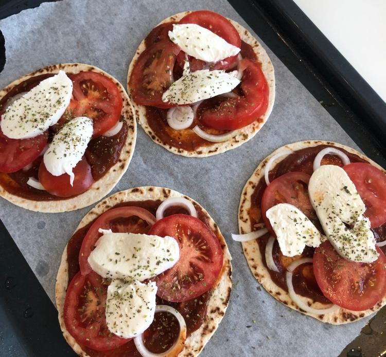 Mini-pizza rredo för ugnen