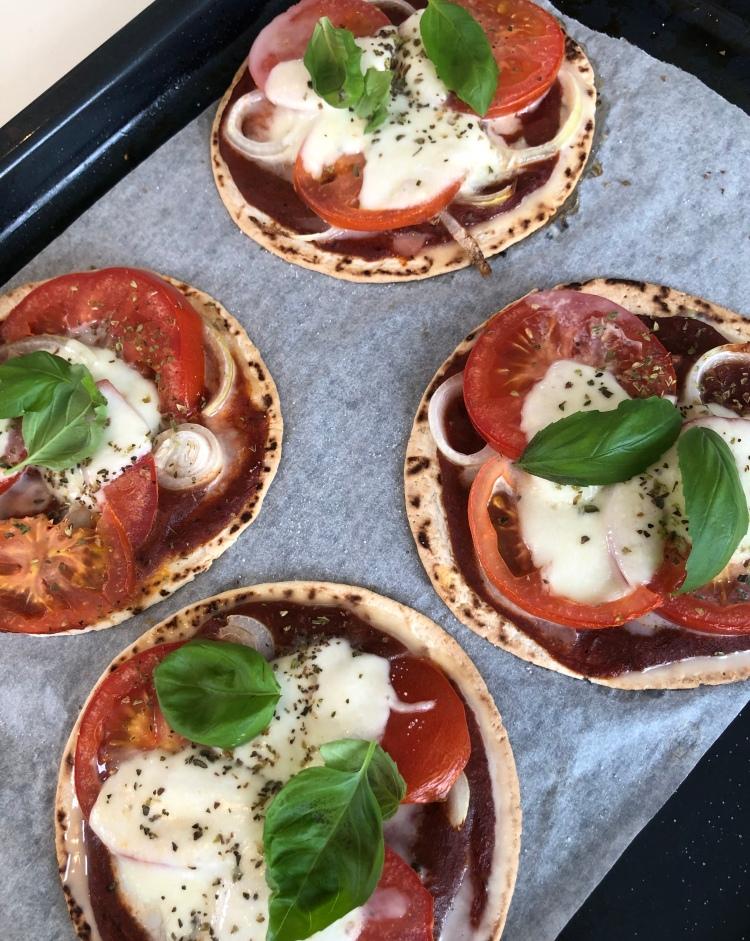 Vegetarisk mini-pizza