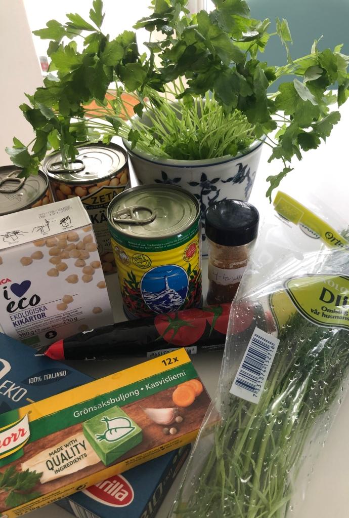 Ingredienser till Chorban